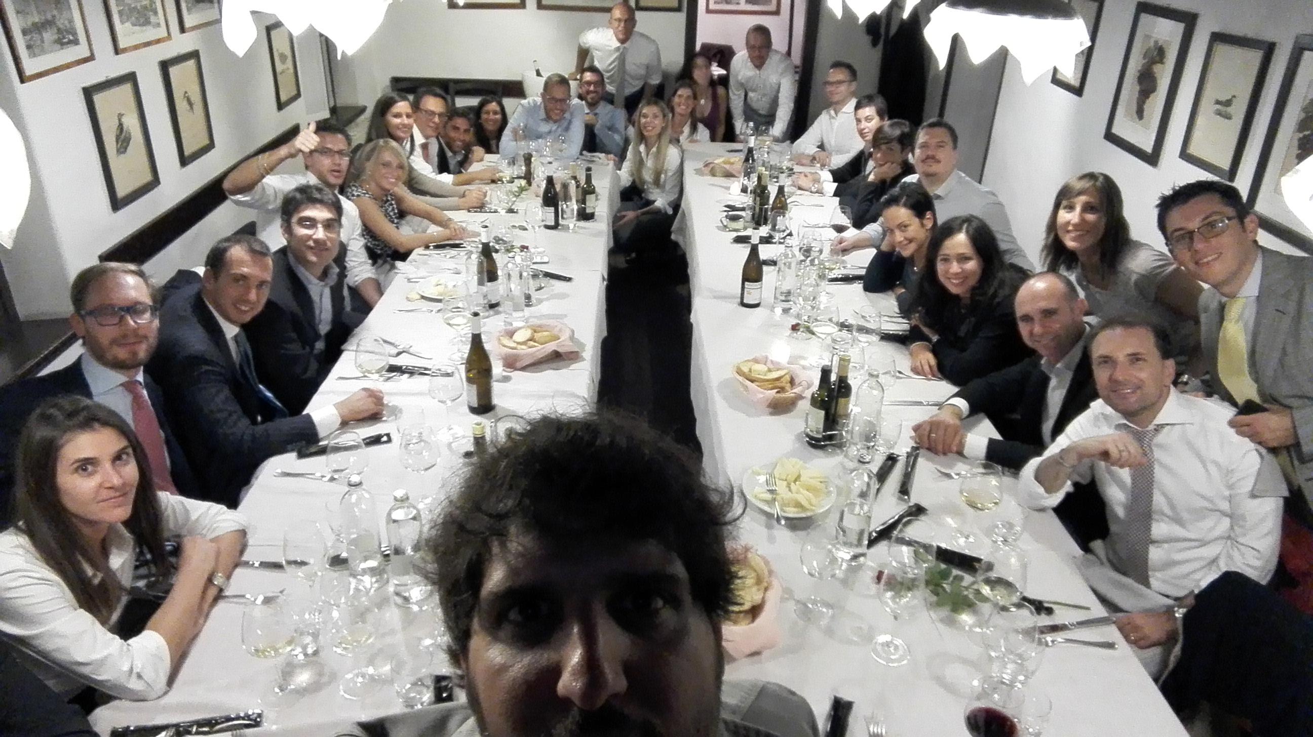 Selfie Cena Coordinamento Triveneto 2015